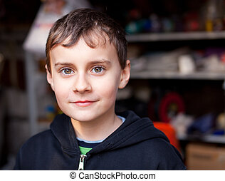 Handsome kid - Closeup portrait of a beautiful caucasian boy