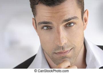 Handsome man close