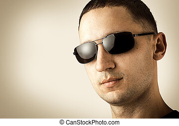 handsome man in glasses