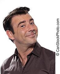 Handsome man portrait smiling