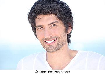 Handsome man portrait.