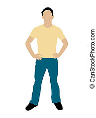 handsome man standing on isolated background