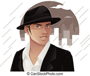 Handsome Man Wearing Hat