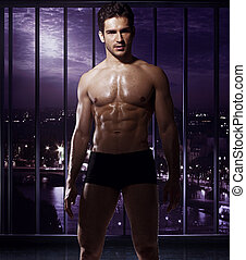 Handsome man with fabulous body - Handsome man with the...