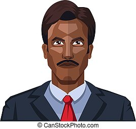 Handsome man with moustaches illustration vector on white background