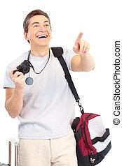 man with photo camera