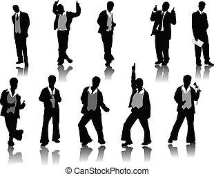 Handsome men silhouettes