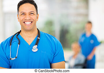 mid age medical expert - handsome mid age medical expert in...