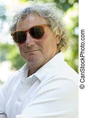 handsome middle age man portrait