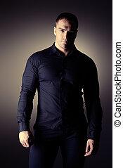 handsome model