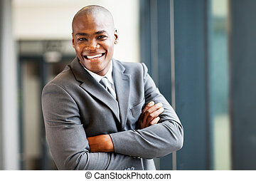 handsome modern african businessman