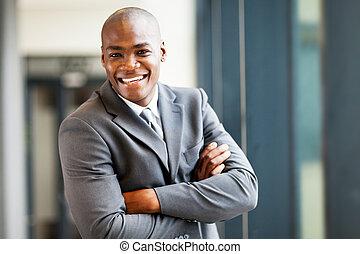 handsome modern african businessman