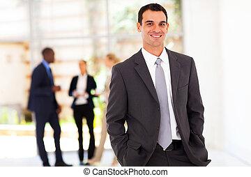 handsome modern businessman