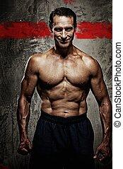 Handsome muscular man.