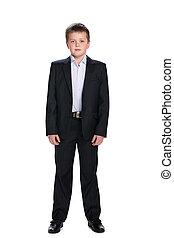Handsome schoolboy in the suit