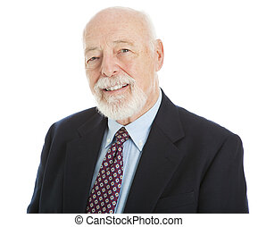 Handsome Senior Businessman - Portrait of a handsome senior...