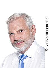 Handsome senior man portrait smiling