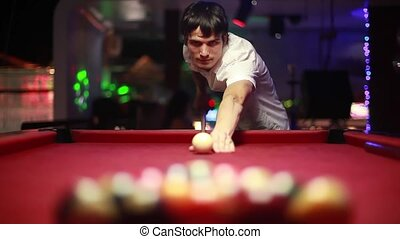 handsome serious man playing pool. 1920x1080 - handsome...