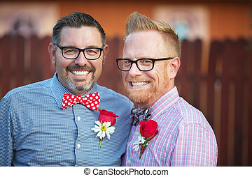 Handsome Smiling Gay Couple