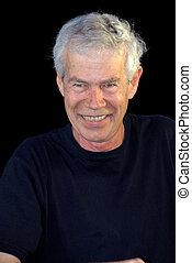 Handsome Smiling Man in Black