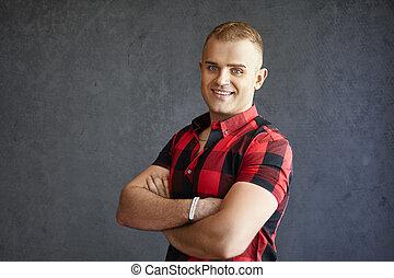 Handsome smiling man