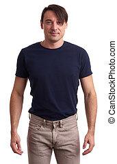 handsome sporty smiling man isolated