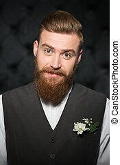 Handsome stylish man with beard
