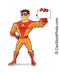 Handsome Superhero Card