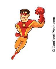 Handsome Superhero Flying