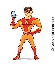 Handsome Superhero Gadget