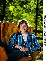 handsome teen boy