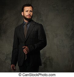 Handsome well-dressed man in jacket