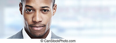 African-american man face.