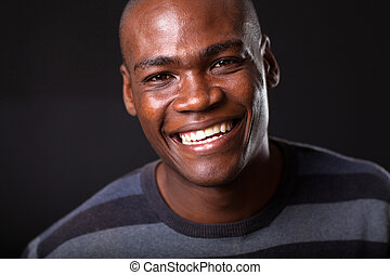 handsome young african american man
