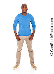 young african man standing