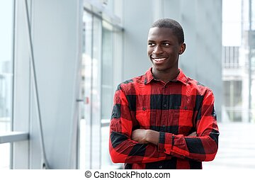 Handsome young african man