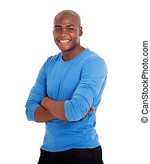 young black man with arms crossed