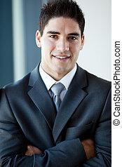 handsome young businessman closeup