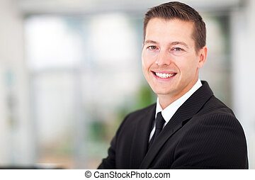 businessman in a black suit