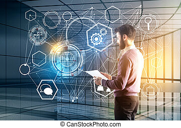 Technology and analytics concept