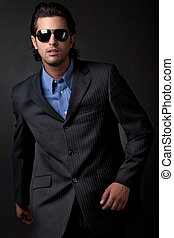 handsome young fashion model
