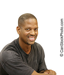 Handsome Young Man - A handsome African American man...