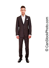 Handsome young man in classic suit