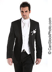 Handsome young man in tuxedo - Handsome caucasian man in...