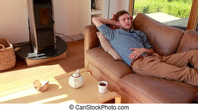Handsome young man relaxing