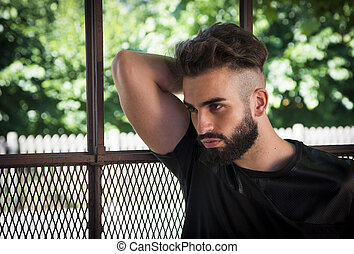 Handsome young man with beard
