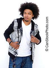 Handsome young mixed race man with attitude