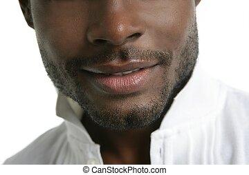 handsomen, moda, giovane, nero, uomo africano