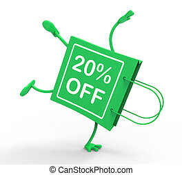 Handstand Shopping Bag Shows Sale Discount Twenty Percent...