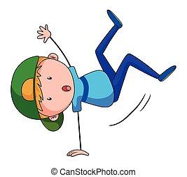 Handstanding - Close up boy doing handstand